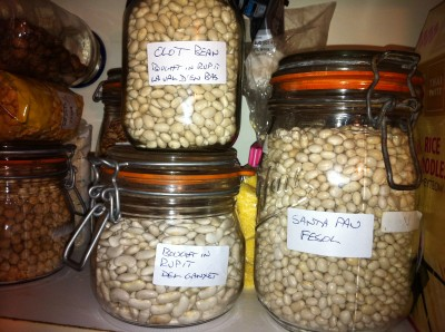 Three local varieties, Fasol Santa Pau, Val D'en Bas and Del Ganxet