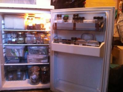 a fridge full of seeds